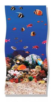 3,60 x 0,90 m Schwimmbadfolie Kinderbadebecken ( Aquariumoptik )