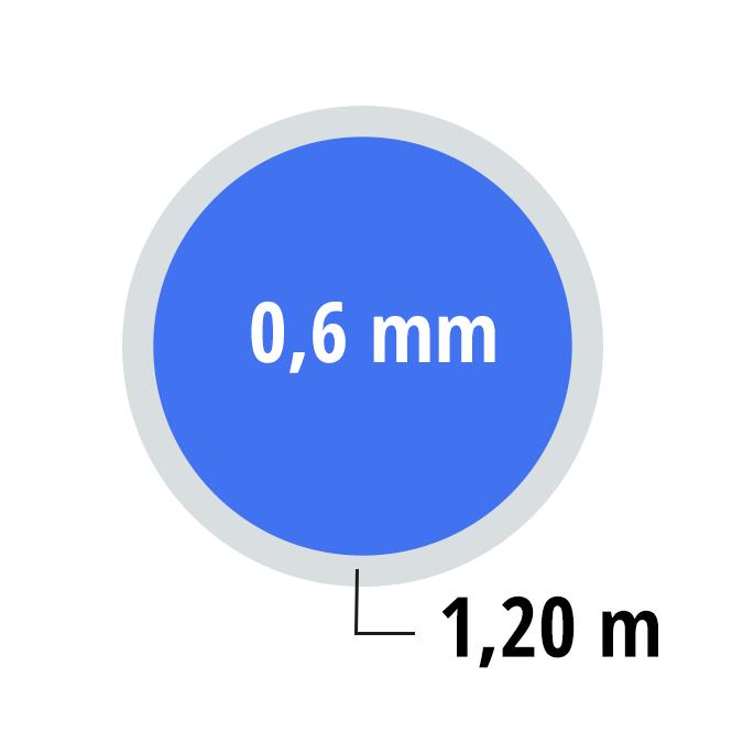 Schwimmbadfolie Ersatzfolie Rundbecken 4 60 X 1 20 M Blau