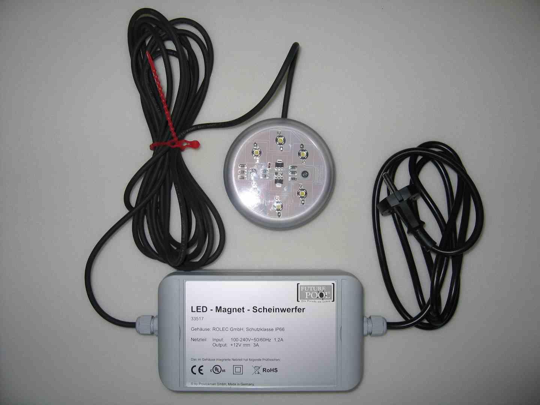 19 watt led magnet unterwasserscheinwerfer online kaufen poolexperte. Black Bedroom Furniture Sets. Home Design Ideas