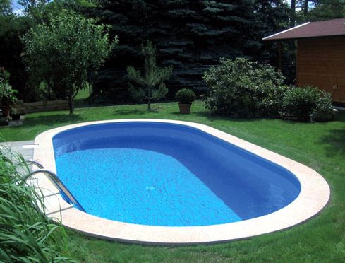 Poolfolie ovalpool blau 0 8 mm 1 20 m for Poolfolie blau