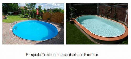 Poolfolie sand oder blau schwimmbad und saunen for Folie pool rund